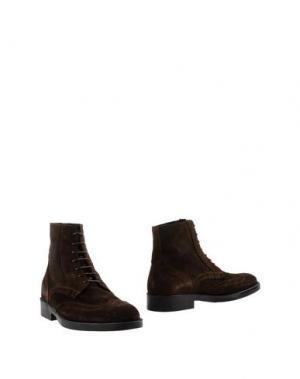 Полусапоги и высокие ботинки BORGO MEDICEO. Цвет: темно-коричневый