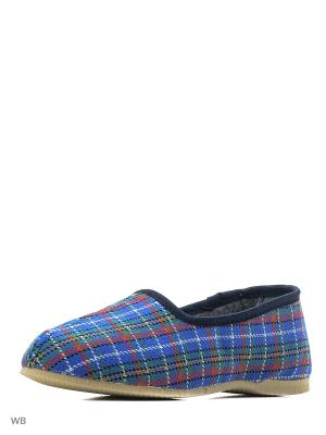 Тапки ШК обувь. Цвет: синий