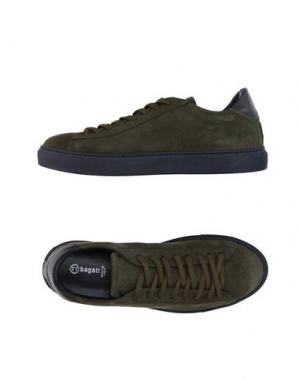 Низкие кеды и кроссовки BAGATT. Цвет: зеленый-милитари