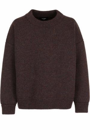 Шерстяной свитер свободного кроя Dsquared2. Цвет: коричневый