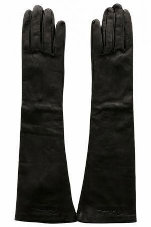 Перчатки Giorgio Armani. Цвет: черный