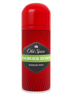Аэрозольный дезодорант Danger Zone, 125мл OLD SPICE. Цвет: красный