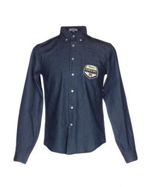 Джинсовая рубашка GEOX. Цвет: синий