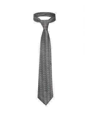 Классический галстук Поездка в Мюнхен с модным принтом Signature A.P.. Цвет: черный, белый