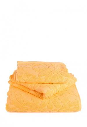 Комплект полотенец 3 шт. Bellehome. Цвет: желтый