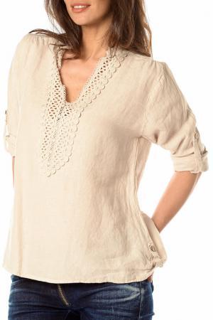 Блуза LA BELLE PARISIENNE. Цвет: бежевый
