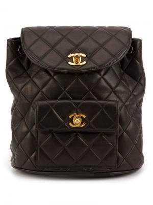 Стеганый рюкзак Chanel Vintage. Цвет: чёрный