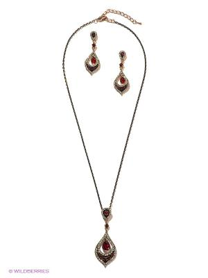 Комплект Lovely Jewelry. Цвет: золотистый, красный