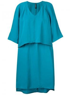 Платье Scrat Minimarket. Цвет: синий