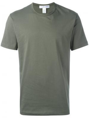 Базовая футболка Comme Des Garçons Shirt. Цвет: зелёный