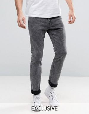 Brooklyn Supply Co. Черные выбеленные джинсы скинни Co. Цвет: черный
