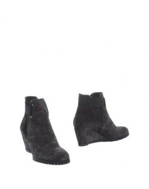 Полусапоги и высокие ботинки VALERI. Цвет: свинцово-серый