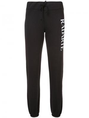 Спортивные брюки с логотипом Rodarte. Цвет: чёрный