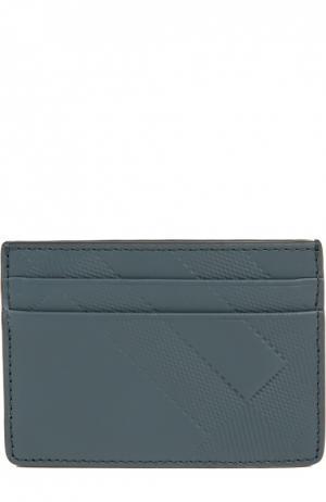 Футляр для кредитных карт Burberry. Цвет: синий