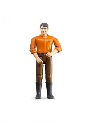 Фигурка мужчины коричневые джинсы Bruder. Цвет: коричневый, светло-коричневый