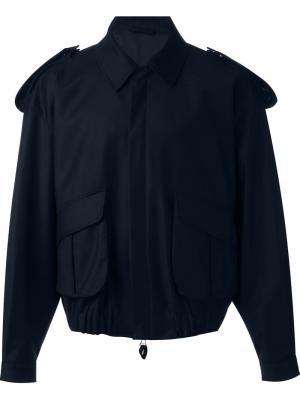 Куртка бомбер E. Tautz. Цвет: синий