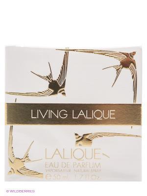 Парфюмерная вода Living Lalique. Цвет: золотистый