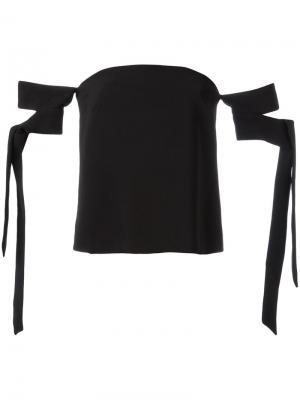 Блузка с открытыми плечами C/Meo. Цвет: чёрный