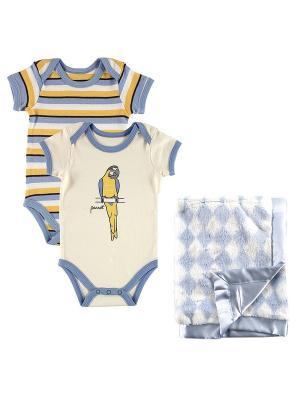 Комплект Боди и Плюшевый плед Hudson Baby. Цвет: голубой