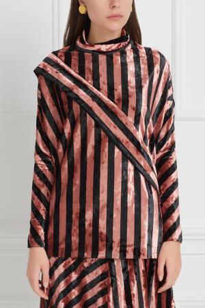 Бархатная блузка Inshade. Цвет: розовый, черный
