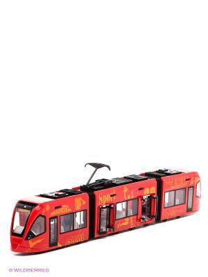 Трамвай Городской Пламенный мотор. Цвет: красный