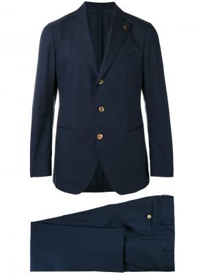 Строгий костюм Gabriele Pasini. Цвет: синий