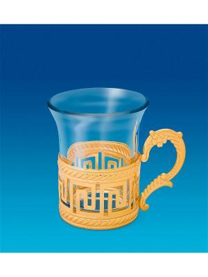 Чайный набор Версаче дизайн Юнион. Цвет: золотистый