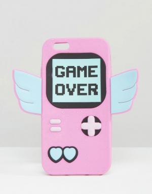 Skinnydip Силиконовый чехол для iPhone 6/6S с принтом Game Over. Цвет: мульти