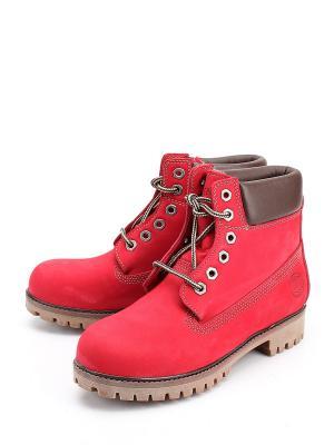 Ботинки Friendly. Цвет: красный
