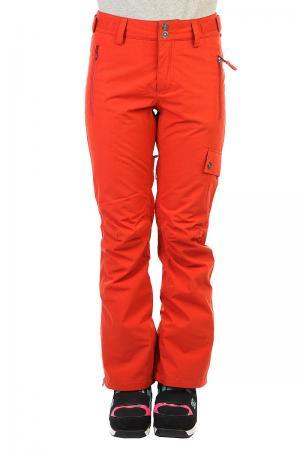 Штаны сноубордические женские  Karma Ketchup Billabong. Цвет: красный