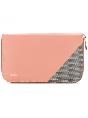 Кошелек с панельным дизайном K/A/R/T. Цвет: розовый и фиолетовый