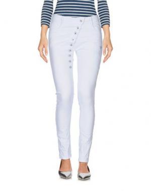 Джинсовые брюки TANTRA. Цвет: небесно-голубой