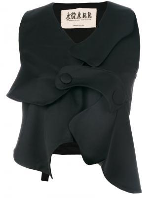 Асимметричная жилетка A.W.A.K.E.. Цвет: чёрный