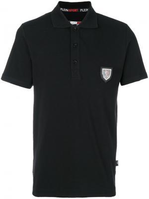Рубашка-поло с бляшкой логотипом Plein Sport. Цвет: чёрный