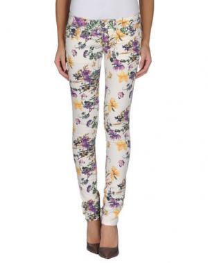 Повседневные брюки H²O LUXURY. Цвет: слоновая кость