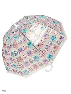 Зонт Modis. Цвет: прозрачный, синий
