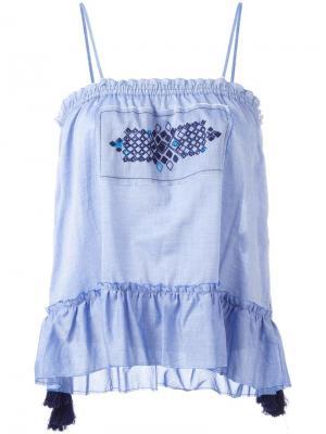 Блузка Oni Sun Lemlem. Цвет: синий
