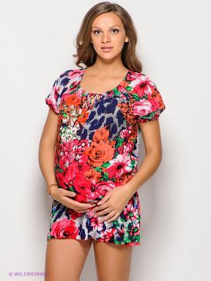 Туника для беременных 40 недель. Цвет: темно-синий, синий, зеленый, розовый
