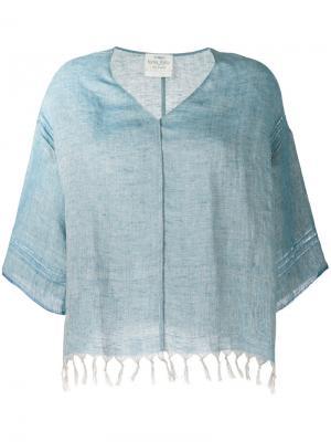 Fringed hem blouse Forte. Цвет: синий