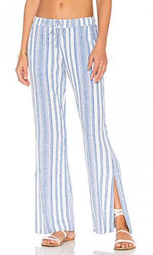 Широкие брюки с разрезами по бокам Bella Dahl. Цвет: синий