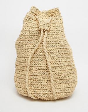 Buji Baja Мешковатый рюкзак Toyo. Цвет: естественный