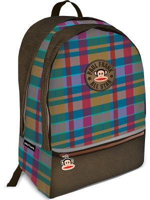 Рюкзак Paul Frank. Цвет: оливковый, бордовый, голубой