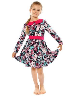 Платье Апрель. Цвет: синий, розовый, белый