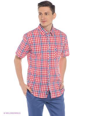 Рубашка Mavango. Цвет: красный, синий
