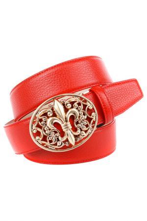Ремень Anthoni Crown. Цвет: красный