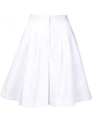 Плиссированная юбка А-образного силуэта Xiao Li. Цвет: белый