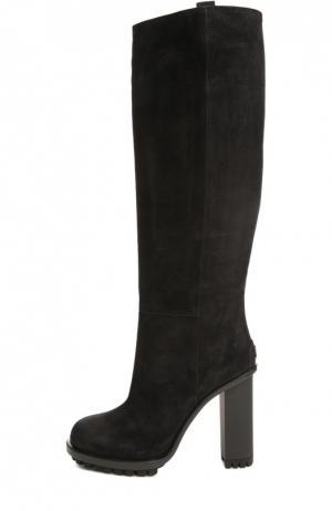 Замшевые сапоги Ana Gucci. Цвет: черный