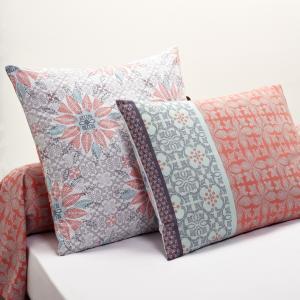 Наволочка с рисунком Bergame La Redoute Interieurs. Цвет: серый/зеленый/фиолетовый/розовый