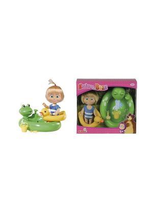 Маша с бассейном функцией брызг, кругом и аксесс., 6/24 Simba. Цвет: розовый, желтый, зеленый