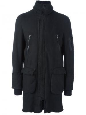 Пальто на молнии Salvatore Santoro. Цвет: чёрный